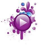 ζωηρόχρωμη πορφύρα grunge 3 κουμπ Ελεύθερη απεικόνιση δικαιώματος