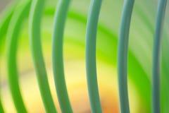Ζωηρόχρωμη πράσινη περίληψη στροβίλου τέχνης χρώματος κυκλική Στοκ Φωτογραφία
