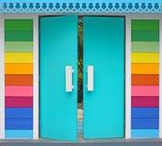 Ζωηρόχρωμη πόρτα Στοκ Εικόνες