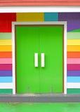 Ζωηρόχρωμη πόρτα Στοκ Εικόνα
