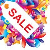 ζωηρόχρωμη πώληση ετικετών Απεικόνιση αποθεμάτων