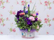 Ζωηρόχρωμη ρύθμιση λουλουδιών Στοκ Εικόνα