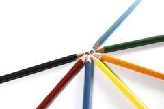 Ζωηρόχρωμη ρύθμιση μολυβιών Στοκ Φωτογραφία