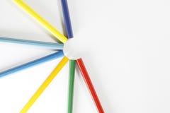 Ζωηρόχρωμη ρύθμιση μολυβιών Στοκ εικόνα με δικαίωμα ελεύθερης χρήσης
