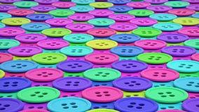 Ζωηρόχρωμη σειρά ίδιων ράβοντας κουμπιών διανυσματική απεικόνιση