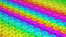 Ζωηρόχρωμη σειρά ίδιων ράβοντας κουμπιών Στοκ εικόνες με δικαίωμα ελεύθερης χρήσης