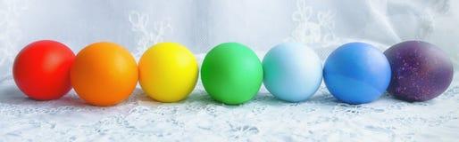ζωηρόχρωμη σειρά αυγών Πάσχ&alp Στοκ Εικόνα