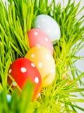 ζωηρόχρωμη σειρά αυγών Πάσχ&alp Στοκ φωτογραφία με δικαίωμα ελεύθερης χρήσης