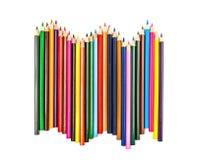 Ζωηρόχρωμη σειρά μολυβιών Στοκ φωτογραφία με δικαίωμα ελεύθερης χρήσης