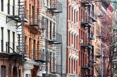 Ζωηρόχρωμη σειρά του Ιστ Βίλατζ κτηρίων του Μανχάταν Νέα Υόρκη Cit Στοκ φωτογραφίες με δικαίωμα ελεύθερης χρήσης