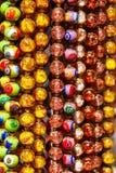 Ζωηρόχρωμη σειρά των χαντρών Στοκ φωτογραφίες με δικαίωμα ελεύθερης χρήσης