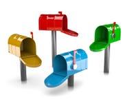 Ζωηρόχρωμη συλλογή γραμματοκιβωτίων Στοκ Φωτογραφίες