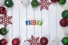 Ζωηρόχρωμη συλλογή των σφαιρών Χριστουγέννων χρήσιμων ως σχέδιο υποβάθρου Στοκ φωτογραφία με δικαίωμα ελεύθερης χρήσης