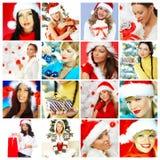 Ζωηρόχρωμη σύνθεση με το θέμα Χριστουγέννων στοκ εικόνες