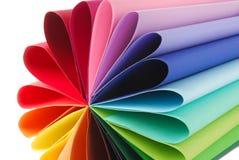 Ζωηρόχρωμη σύσταση εγγράφου χρώματος Στοκ φωτογραφίες με δικαίωμα ελεύθερης χρήσης