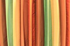 Ζωηρόχρωμη σύσταση κουρτινών Στοκ Εικόνες