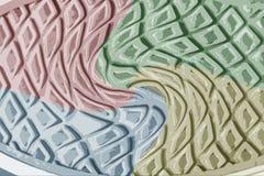 Ζωηρόχρωμη σύσταση σχεδίου πατωμάτων παπουτσιών Στοκ Εικόνες