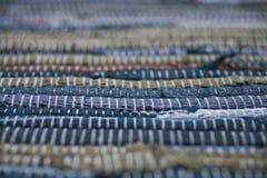 ζωηρόχρωμη σύσταση ταπήτων Υπόβαθρο του ανδαλουσιακού τάπητα Jarapa Στοκ Εικόνα