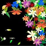Ζωηρόχρωμη τέχνη λουλουδιών Στοκ φωτογραφία με δικαίωμα ελεύθερης χρήσης