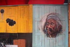 Ζωηρόχρωμη τέχνη οδών στο Νεπάλ Στοκ φωτογραφία με δικαίωμα ελεύθερης χρήσης