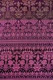 Ζωηρόχρωμη ταϊλανδική επιφάνεια κουβερτών ύφους μεταξιού handcraft περουβιανή στενή επάνω περισσότερο αυτό το μοτίβο & περισσότερ Στοκ Φωτογραφίες