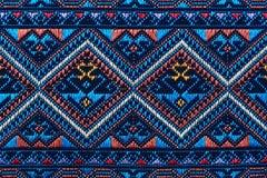 Ζωηρόχρωμη ταϊλανδική επιφάνεια κουβερτών ύφους μεταξιού handcraft περουβιανή στενή επάνω περισσότερο αυτό το μοτίβο & περισσότερ Στοκ εικόνα με δικαίωμα ελεύθερης χρήσης