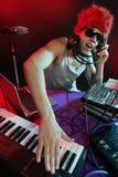 ζωηρόχρωμη του DJ μουσική μί&xi Στοκ φωτογραφία με δικαίωμα ελεύθερης χρήσης