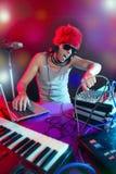 ζωηρόχρωμη του DJ μουσική μί&xi Στοκ Φωτογραφίες