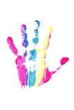 ζωηρόχρωμη τυπωμένη ύλη χεριών Στοκ Φωτογραφίες