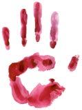 ζωηρόχρωμη τυπωμένη ύλη χεριών Στοκ φωτογραφίες με δικαίωμα ελεύθερης χρήσης