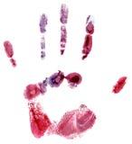 ζωηρόχρωμη τυπωμένη ύλη χεριών Στοκ φωτογραφία με δικαίωμα ελεύθερης χρήσης