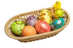 ζωηρόχρωμη λυγαριά αυγών Πά& Στοκ φωτογραφία με δικαίωμα ελεύθερης χρήσης