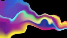 Ζωηρόχρωμη υγρή ολογραφική αφηρημένη τηλεοπτική ζωτικότητα κυμάτων ελεύθερη απεικόνιση δικαιώματος