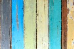 Ζωηρόχρωμη χρωματισμένη ξύλινη σανίδα Στοκ Εικόνες