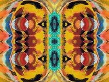 Ζωηρόχρωμη χρωματισμένη περίληψη εγγράφου Στοκ φωτογραφίες με δικαίωμα ελεύθερης χρήσης