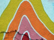 Ζωηρόχρωμη χρωματισμένη περίληψη τοίχων Στοκ Εικόνα