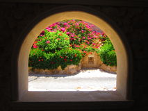 ζωηρόχρωμη όψη κήπων Στοκ εικόνες με δικαίωμα ελεύθερης χρήσης