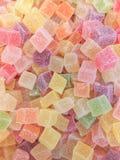 Ζωηρόχρωμη bonbon καραμελών ζελατίνας ομάδα πρόχειρων φαγητών γλυκό για το υπόβαθρο ημέρας βαλεντίνων χρώμα κρητιδογραφιών στο γα στοκ φωτογραφίες με δικαίωμα ελεύθερης χρήσης