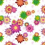 ζωηρόχρωμη floral άνευ ραφής ταπ&epsi ελεύθερη απεικόνιση δικαιώματος