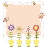 ζωηρόχρωμη floral άνοιξη χαιρετ&iota Στοκ εικόνα με δικαίωμα ελεύθερης χρήσης