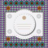 Ζωηρόχρωμη floral ευχετήρια κάρτα Στοκ φωτογραφία με δικαίωμα ελεύθερης χρήσης