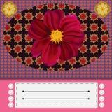Ζωηρόχρωμη floral ευχετήρια κάρτα Στοκ Εικόνες