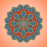 Ζωηρόχρωμη floral στρογγυλή διακόσμηση Στοκ Εικόνες