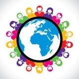 Ζωηρόχρωμοι άνθρωποι από όλο ο κόσμος διανυσματική απεικόνιση