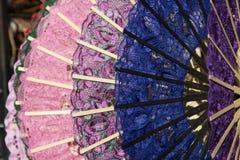 Ζωηρόχρωμοι ανεμιστήρες της ενετικής δαντέλλας Στοκ Φωτογραφία