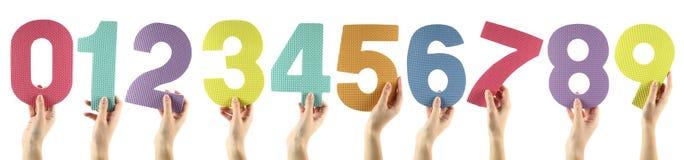 ζωηρόχρωμοι αριθμοί Στοκ εικόνα με δικαίωμα ελεύθερης χρήσης