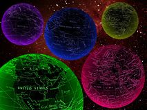 ζωηρόχρωμοι διαστημικοί κόσμοι Στοκ Εικόνες