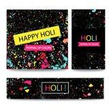 Ζωηρόχρωμοι ινδικοί εορτασμοί Holi φεστιβάλ ευτυχείς Υπόβαθρο για το έμβλημα διανυσματική απεικόνιση