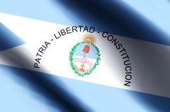 Ζωηρόχρωμοι κυματισμός Corrientes και απεικόνιση σημαιών κινηματογραφήσεων σε πρώτο πλάνο απεικόνιση αποθεμάτων