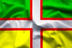 Ζωηρόχρωμοι κυματισμός Drapeau du saguenay-λάκκα-Άγιος-Jean και απεικόνιση σημαιών κινηματογραφήσεων σε πρώτο πλάνο ελεύθερη απεικόνιση δικαιώματος